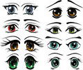 The complete set of the drawn eyes Stock Images