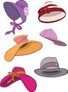 The complete set of female hats Royalty Free Stock Photo