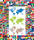 Complete set of flag of the world Stock Photo