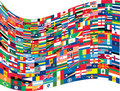 Complete set of flag of the world Royalty Free Stock Photo