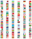 Complete set of flags of the world with official colors Royalty Free Stock Images