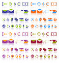 Complete set of icons. Royalty Free Stock Image