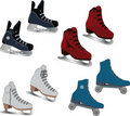 The complete set of the skates Stock Images