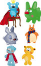 The complete set of toys Royalty Free Stock Photo
