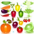 Complete set vegetable Royalty Free Stock Photos