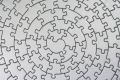 Complete silver jigsaw Stock Photo