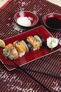 Complete sushi meal Royalty Free Stock Photo