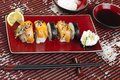 Complete sushi meal Royalty Free Stock Photography