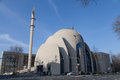 Complete view of the mosque in cologne germany march th central is built since and is a local controversial issue Royalty Free Stock Images