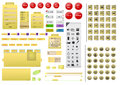 Complete yellow website design element set illustration Royalty Free Stock Photo