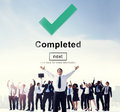 Completed accomplishment achievement finished success concept Royalty Free Stock Photos