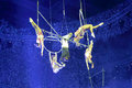 Complex aerial acrobatics Royalty Free Stock Photo