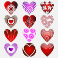 Complex hearts Stock Photo