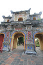 Complex of hue monuments in vietnam the is located and around city thua thien province the geographical centre Stock Photo