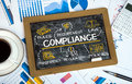 Compliance concept with business elements Royalty Free Stock Photo