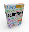 Compliance Word Product Service Package Complying Laws Guideline Stock Image