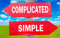 Complicated or simple Royalty Free Stock Photo