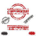 COMPLIMENTARY grunge stamp set Stock Photo