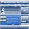 Components set for use in web design Royalty Free Stock Image