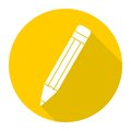 Compose icon, pencil with long shadow