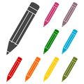 Compose icon, pencil set
