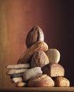 Composição do pão Fotografia de Stock