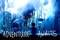 Composite image of adventure awaits