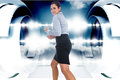 Composite image of furious businesswoman gesturing Stock Photos