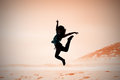 Composite image of pretty break dancer Royalty Free Stock Photo