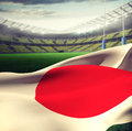 Composite image of red circle on japan flag Royalty Free Stock Photo