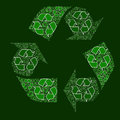 Composite recycling sign Royalty Free Stock Photo