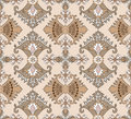 Composite seamless pattern in oriental style Royalty Free Stock Photo