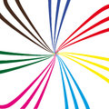 Composition of abstract color lines .Vector illustration Royalty Free Stock Photo