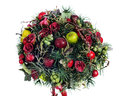 Composition from apples, balloons, roses Stock Image