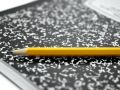 Composition Book and Pencil Royalty Free Stock Photos