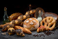 Composition of breads Royalty Free Stock Photo