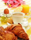 Composition with breakfast on the table Royalty Free Stock Photo