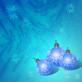 Composition of christmas balls Royalty Free Stock Image