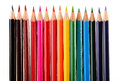 Composition with colorful crayons isolated on white background Stock Photo