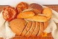 Composition de pain frais Photographie stock