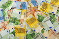 Composition with Euro banknotes Royalty Free Stock Photos