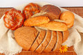 Composition of fresh bread Stock Photography