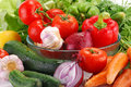 Composition with fresh raw vegetables Royalty Free Stock Images