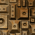 Composition grunge old rusty speaker sound system Royalty Free Stock Photo