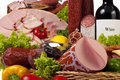 A composition of meat and vegetables Stock Images