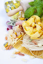 Composition of pasta Stock Photos