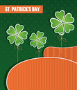 Composition on st patricks day national colors Royalty Free Stock Photo