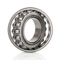 Composition of steel ball roller bearings in closeup isolated on white Royalty Free Stock Photo