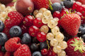 Composition of summer berries full frame Royalty Free Stock Photo