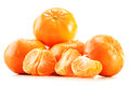 Composition with tangerines isolated on white background Stock Photography
